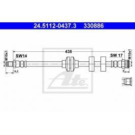Brzdová hadice ATE AT 330886 Auto-moto