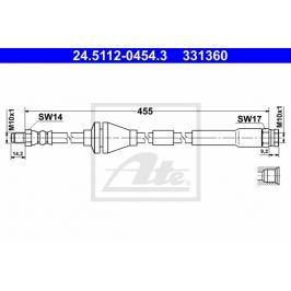 Brzdová hadice ATE AT 331360 Auto-moto