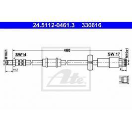 Brzdová hadice ATE AT 330616