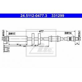 brzdová hadice ATE AT 331299 Auto-moto