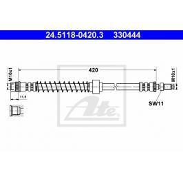 Brzdová hadice ATE AT 330444 Auto-moto