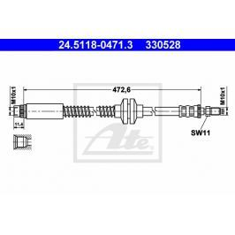 Brzdová hadice ATE AT 330528