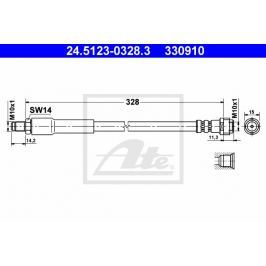 Brzdová hadice ATE AT 330910 Auto-moto