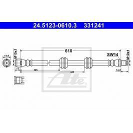 Brzdová hadice ATE AT 331241 Auto-moto
