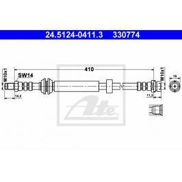 Brzdová hadice ATE AT 330774