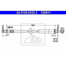 Brzdová hadice ATE AT 330911 Auto-moto
