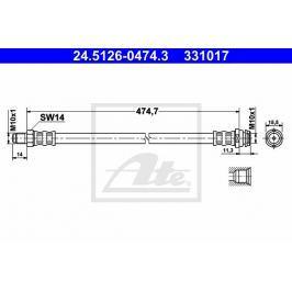 Brzdová hadice ATE AT 331017