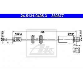 Brzdová hadice ATE AT 330677