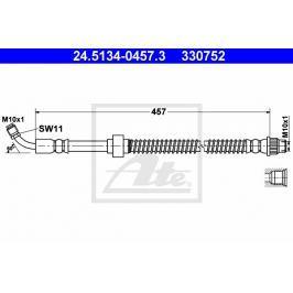 Brzdová hadice ATE AT 330752 Auto-moto