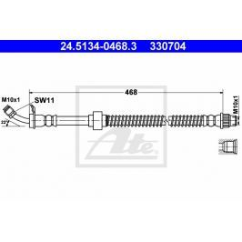 Brzdová hadice ATE AT 330704