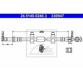 Brzdová hadice ATE AT 330947 Auto-moto