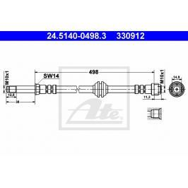Brzdová hadice ATE AT 330912