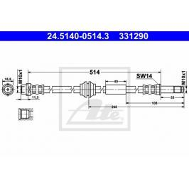 Brzdová hadice ATE AT 331290