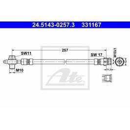 Brzdová hadice ATE AT 331167