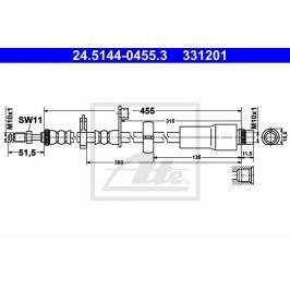 Brzdová hadice ATE AT 331201