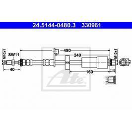 Brzdová hadice ATE AT 330961 Brzdové a spojkové hadice