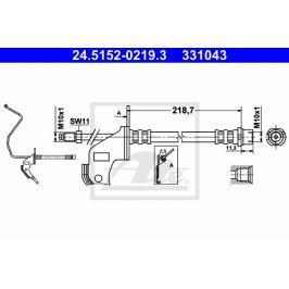 Brzdová hadice ATE AT 331043