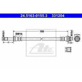Brzdová hadice ATE AT 331204