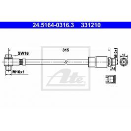 Brzdová hadice ATE AT 331210