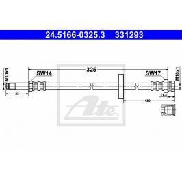 P/L přední brzdová hadice ATE AT 331293