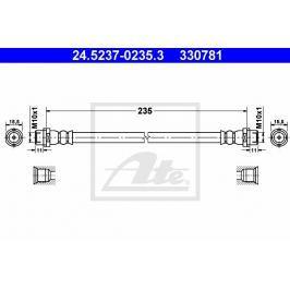 Brzdová hadice ATE AT 330781 Auto-moto