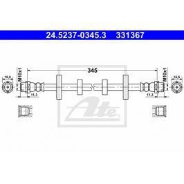 Brzdová hadice ATE AT 331367