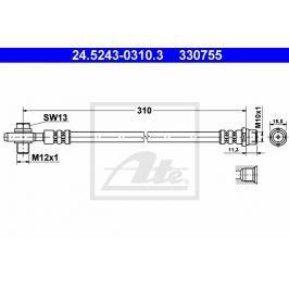 Brzdová hadice ATE AT 330755 Auto-moto