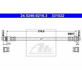 Brzdová hadice ATE AT 331022 Auto-moto