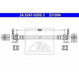 Brzdová hadice ATE AT 331094 Auto-moto