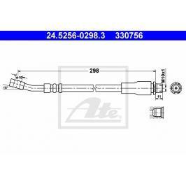 Brzdová hadice ATE AT 330756 Auto-moto
