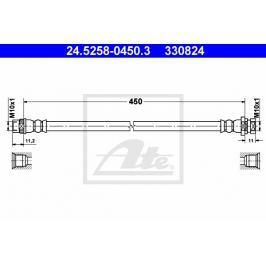 Brzdová hadice ATE AT 330824 Brzdové a spojkové hadice