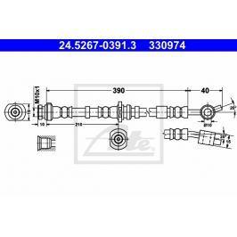 Brzdová hadice ATE AT 330974 Brzdové a spojkové hadice