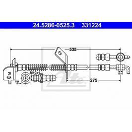 Brzdová hadice ATE AT 331224 Brzdové a spojkové hadice