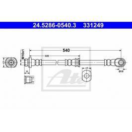 Brzdová hadice ATE AT 331249 Auto-moto