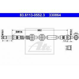 Brzdová hadice ATE AT 330864 Auto-moto