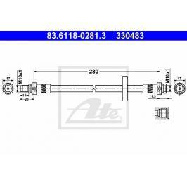 Brzdová hadice ATE AT 330483