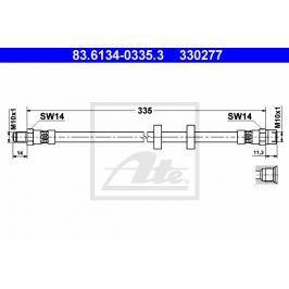 Brzdová hadice ATE AT 330277 Auto-moto