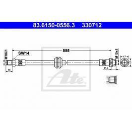 Brzdová hadice ATE AT 330712 Auto-moto