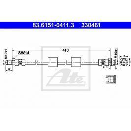 Brzdová hadice ATE AT 330461 Auto-moto