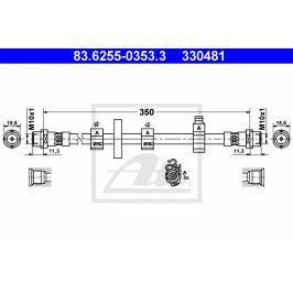 Brzdová hadice ATE AT 330481