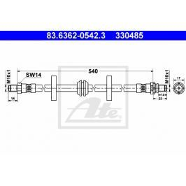 VYŘAZENO - Brzdová hadice ATE AT 330485 Auto-moto