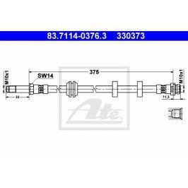 Brzdová hadice ATE AT 330373 Auto-moto