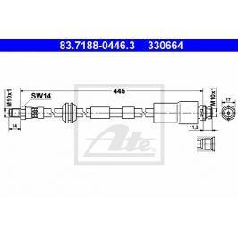 Brzdová hadice ATE AT 330664 Brzdové a spojkové hadice