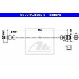 Brzdová hadice ATE AT 330828 Auto-moto