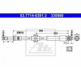 Brzdová hadice ATE AT 330980 Auto-moto