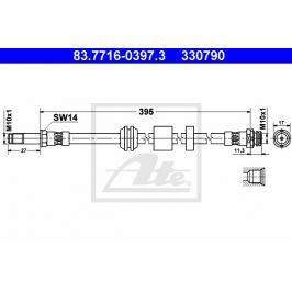 Brzdová hadice ATE AT 330790 Auto-moto