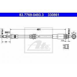 Brzdová hadice ATE AT 330861 Brzdové a spojkové hadice