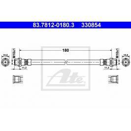P/L Brzdová hadice ATE AT 330854 Auto-moto