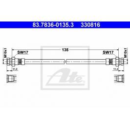 Brzdová hadice ATE AT 330816