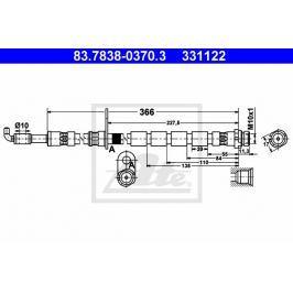 Brzdová hadice ATE AT 331122